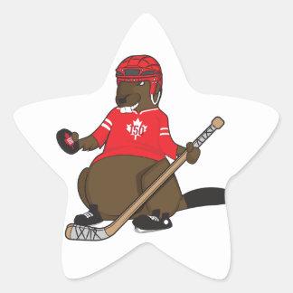 Canada 150 in 2017 Hockey Beaver Star Sticker