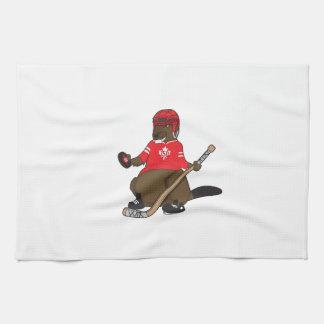 Canada 150 in 2017 Hockey Beaver Tea Towel