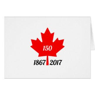 Canada 150 in 2017 maple leaf card
