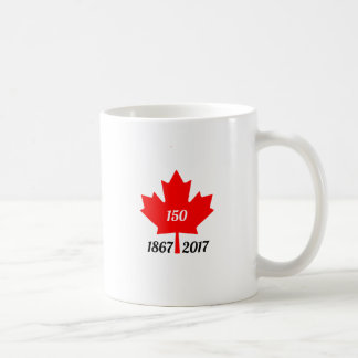 Canada 150 in 2017 maple leaf coffee mug