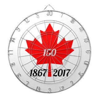 Canada 150 in 2017 maple leaf dartboard