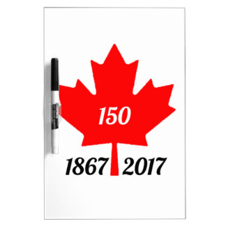 Canada 150 in 2017 maple leaf dry erase board