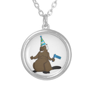 Canada 150 in 2017 Party Beaver Merchandise Silver Plated Necklace
