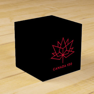 Canada 150 Official Logo - Black and Red Favour Box