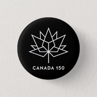 Canada 150 Official Logo - Black and White 3 Cm Round Badge