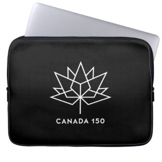 Canada 150 Official Logo - Black and White Laptop Sleeve