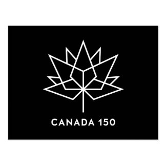 Canada 150 Official Logo - Black and White Postcard