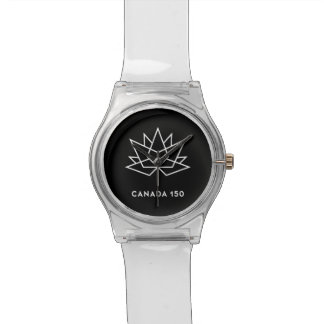 Canada 150 Official Logo - Black and White Wrist Watches