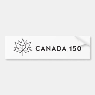 Canada 150 Official Logo - Black Outline Bumper Sticker