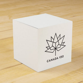 Canada 150 Official Logo - Black Outline Favour Box