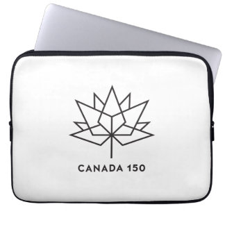 Canada 150 Official Logo - Black Outline Laptop Sleeve