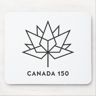 Canada 150 Official Logo - Black Outline Mouse Pad