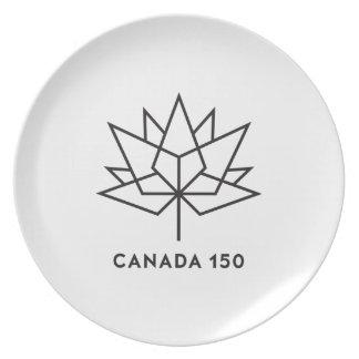 Canada 150 Official Logo - Black Outline Plate