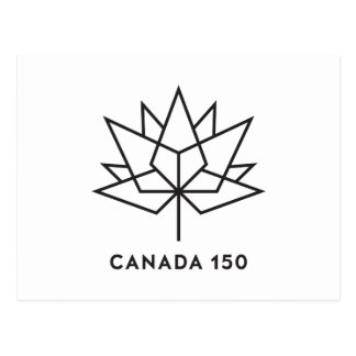 Canada 150 Official Logo - Black Outline Postcard