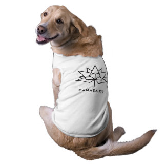 Canada 150 Official Logo - Black Outline Sleeveless Dog Shirt