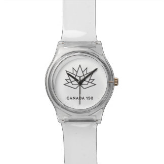 Canada 150 Official Logo - Black Outline Wristwatches