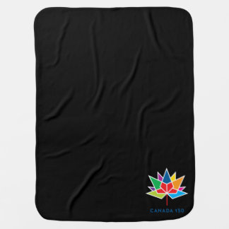 Canada 150 Official Logo - Multicolor and Black Baby Blanket
