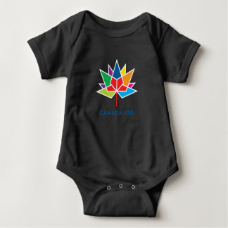 Canada 150 Official Logo - Multicolor and Black Baby Bodysuit