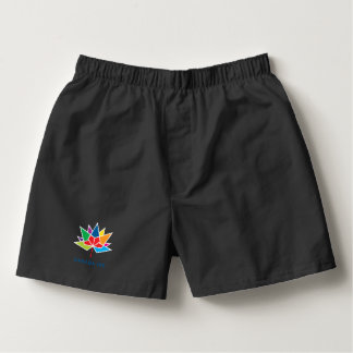 Canada 150 Official Logo - Multicolor and Black Boxers
