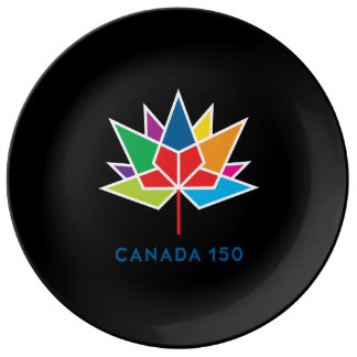 Canada 150 Official Logo - Multicolor and Black Plate