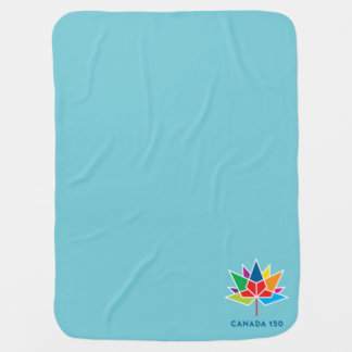 Canada 150 Official Logo - Multicolor and Blue Baby Blanket