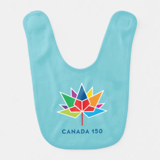 Canada 150 Official Logo - Multicolor and Blue Bib