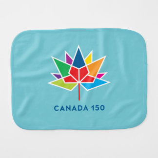 Canada 150 Official Logo - Multicolor and Blue Burp Cloth