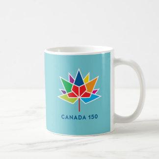 Canada 150 Official Logo - Multicolor and Blue Coffee Mug