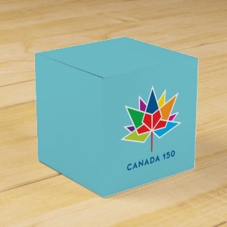 Canada 150 Official Logo - Multicolor and Blue Favour Box