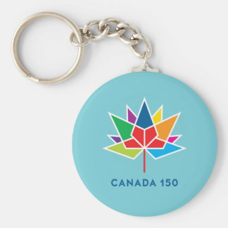 Canada 150 Official Logo - Multicolor and Blue Key Ring