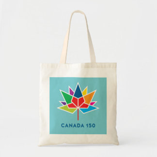 Canada 150 Official Logo - Multicolor and Blue Tote Bag