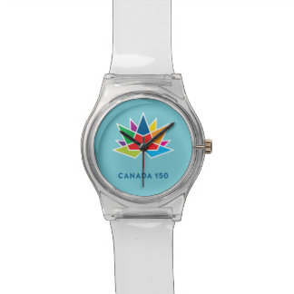 Canada 150 Official Logo - Multicolor and Blue Watches