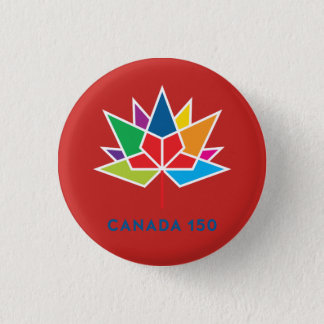 Canada 150 Official Logo - Multicolor and Red 3 Cm Round Badge