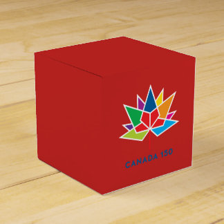 Canada 150 Official Logo - Multicolor and Red Favour Box