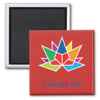 Canada 150 Official Logo - Multicolor and Red Magnet