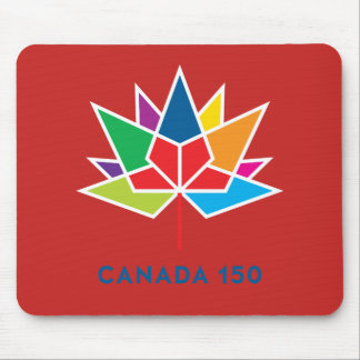 Canada 150 Official Logo - Multicolor and Red Mouse Pad
