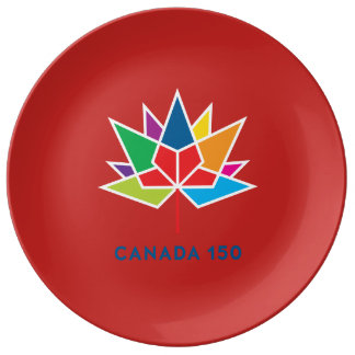 Canada 150 Official Logo - Multicolor and Red Plate