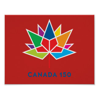 Canada 150 Official Logo - Multicolor and Red Poster