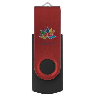 Canada 150 Official Logo - Multicolor and Red USB Flash Drive