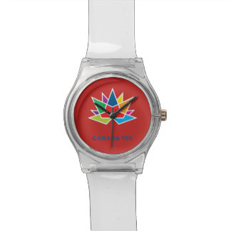 Canada 150 Official Logo - Multicolor and Red Wrist Watch