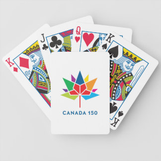Canada 150 Official Logo - Multicolor Bicycle Playing Cards