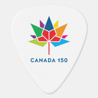 Canada 150 Official Logo - Multicolor Guitar Pick