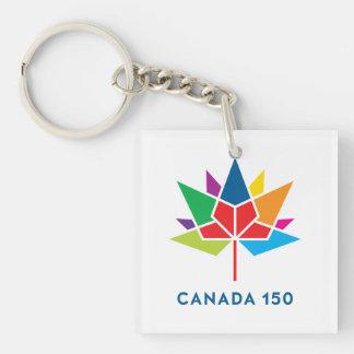 Canada 150 Official Logo - Multicolor Key Ring