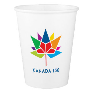 Canada 150 Official Logo - Multicolor Paper Cup