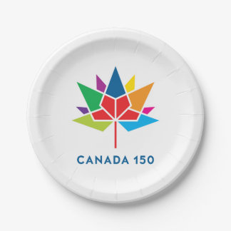 Canada 150 Official Logo - Multicolor Paper Plate