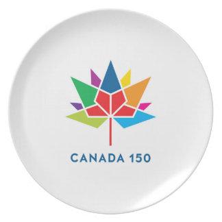 Canada 150 Official Logo - Multicolor Plate