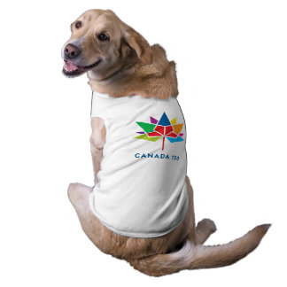 Canada 150 Official Logo - Multicolor Sleeveless Dog Shirt