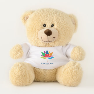 Canada 150 Official Logo - Multicolor Teddy Bear