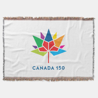 Canada 150 Official Logo - Multicolor Throw Blanket