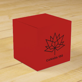 Canada 150 Official Logo - Red and Black Favour Box